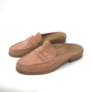 Madewell Suede Pink Loafer Mule Flat Low Heel